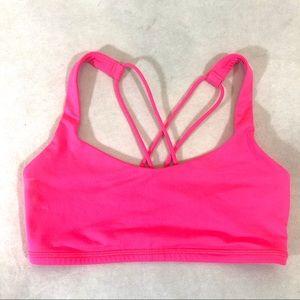 Lululemon Free To Be Bra in Neon Pink